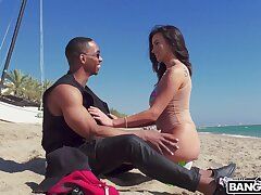 Hardcore interracial screwing with cock hungry model Alyssia Kent