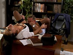 Office MILF shares wonderful porn moments there their way manager