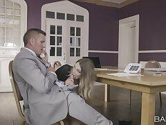 Hardcore fucking in the office with sexy secretary Tamara Grace