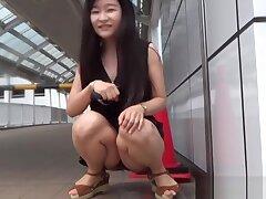 Slutty Asian Teenager Pisses