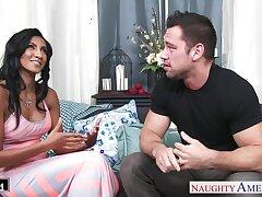 Married guy Johnny fucks super chap-fallen wife's friend Sadie Santana