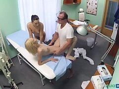 Bastardize and nurse team upon and pleasure married patient