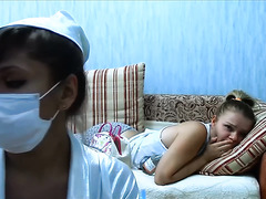 Nurse with big bust does injection