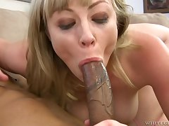 Hardcore anal and deepthroat all over Adrianna Nicole and a big black learn of