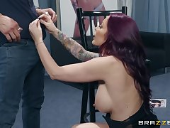 Monique Alexander pussy licked and ass fucked backstage hardcore