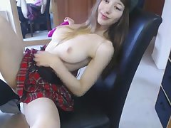 Cute HighSchool Teen Plays in Dads Square footage