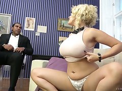 Extraordinarily wild super white cowgirl Angel Wicky gets pussy stretched by BBC