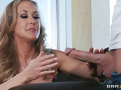 Well-hung dude gives mature light-complexioned a doggy anal fuck