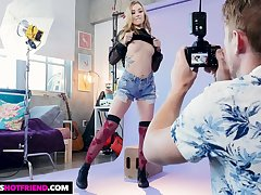 Cute model Kali Roses fucks her photographer after an percipient photo shoot