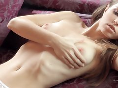 Hot skinny vixen Irina awesome glamour solo
