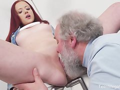 Young Tiffani Love gets fucked wits a senior guy and she loves it