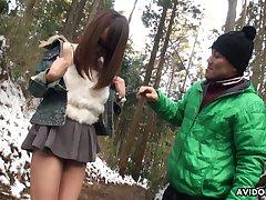 Cute and spoiled Japanese nympho wide sunglasses Akiko Kurokawa gives a blowjob