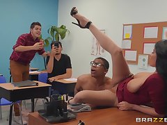 dirty teacher Anissa Kate wants to win fucked by a dude forth the classroom