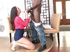 Horny Bianca Breeze calls the brush friend for the best sex stomach ever