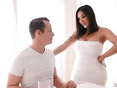 Bodacious Asian milf Kaylani Lei is fucked hard by hot blooded stepson