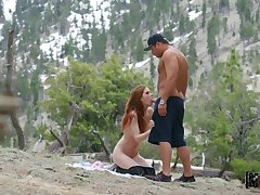 During make an issue of mountain climbing Pepper Hart gets her pussy pounded