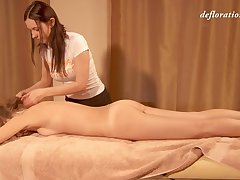 Nice erotic knead with lots of oil is what low-spirited Elena Seregyna needs