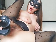 RIPPED PANTYHOSE RIPPED Plummy PUSSY AND BIG GAPING PUSSY