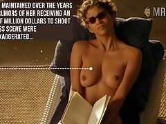 Halle Berry reading book with her titties out and that woman is stupid hot