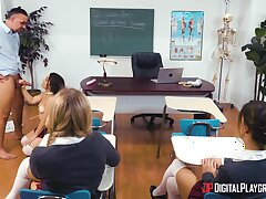 Anal sex in the classroom round a completely hot teenager