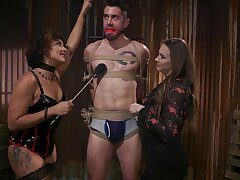 Hot mistress Chanel Preston and their way assistant have sexual intercourse one pledged submissive man