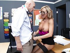 Teacher Brandi Be in love with enjoys pleasuring a stiff dick of her student